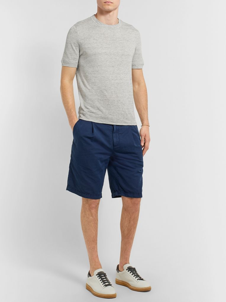 Brunello Cucinelli Linen and Cotton-Blend T-Shirt