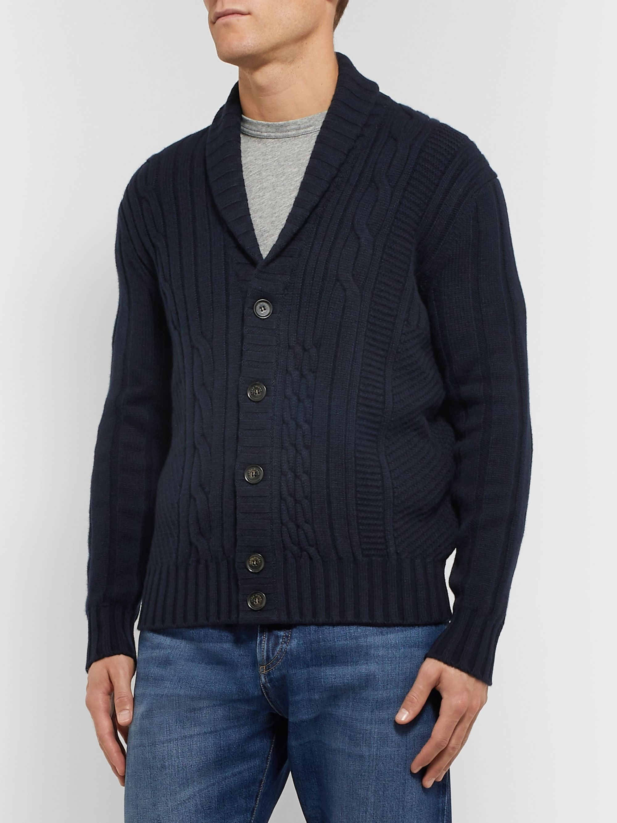 Loro Piana Cable-Knit Baby Cashmere Cardigan