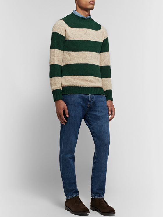 Drake's Striped Wool Sweater