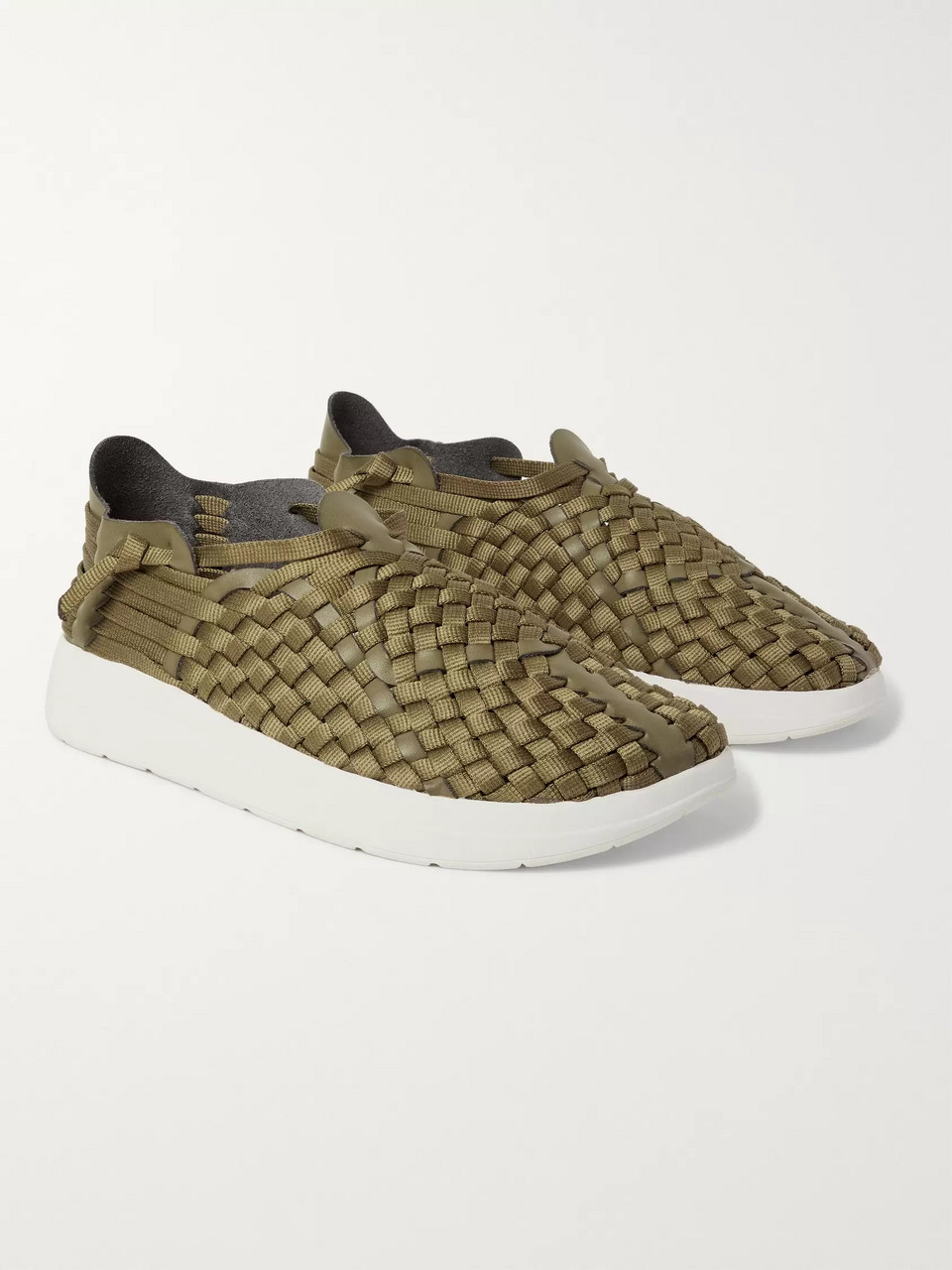 Malibu Latigo Woven Faux Leather and Nylon-Webbing Shoes