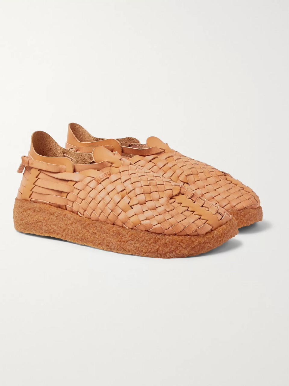 Malibu Latigo Woven Faux Leather Sandals