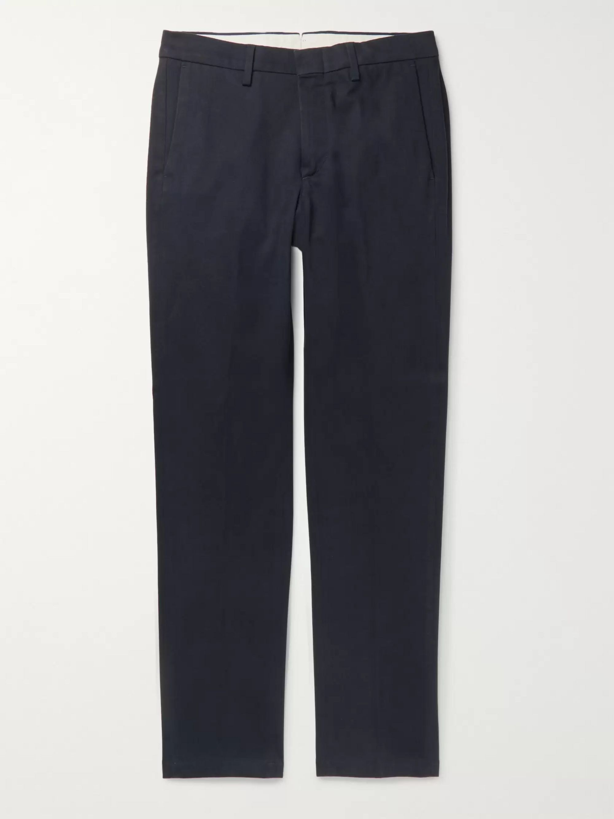 Dunhill Slim-Fit Stretch Cotton and Cashmere-Blend Twill Chinos