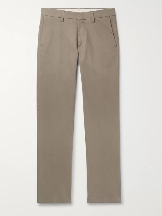 Dunhill Navy Slim-Fit Stretch Cotton and Cashmere-Blend Chinos