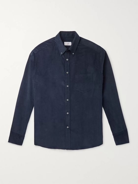 Dunhill Button-Down Collar Cotton-Corduroy Shirt