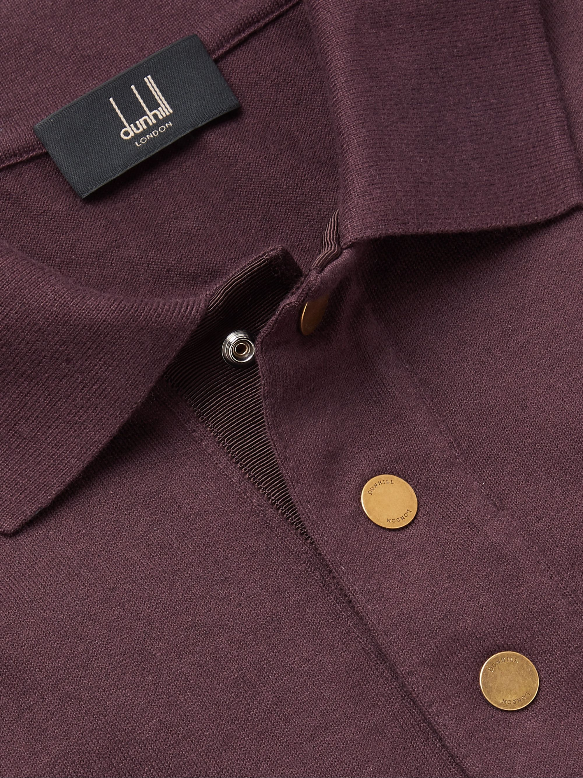 Dunhill Cotton and Cashmere-Blend Polo Shirt