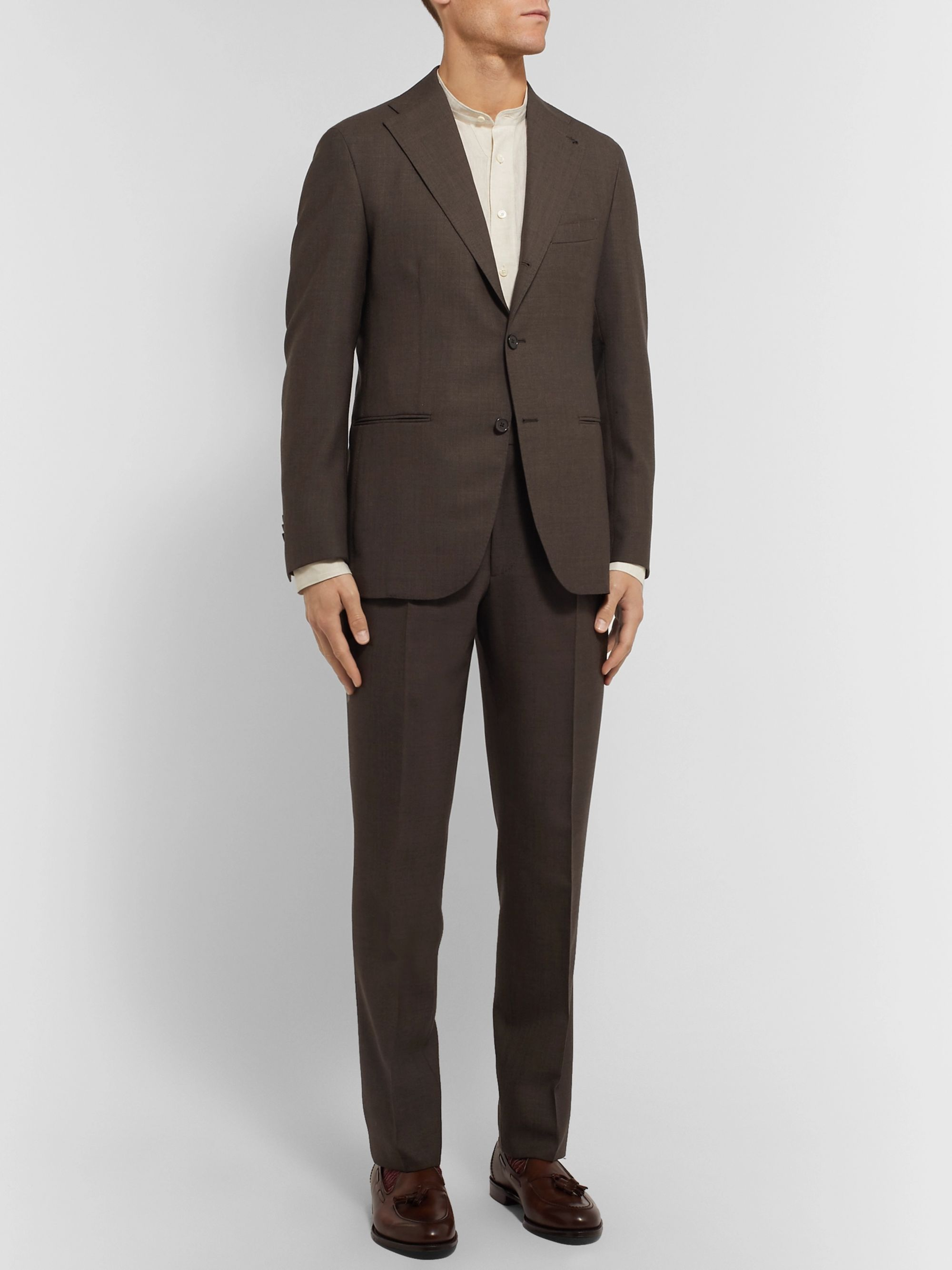 Berg & Berg Tobacco Dan II Slim-Fit Unstructured Wool Suit Jacket