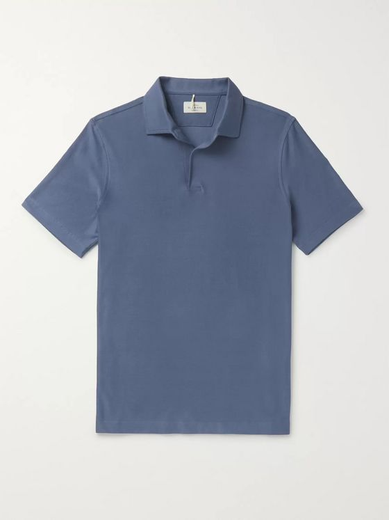 Berg & Berg Claes Cotton-Jersey Polo Shirt