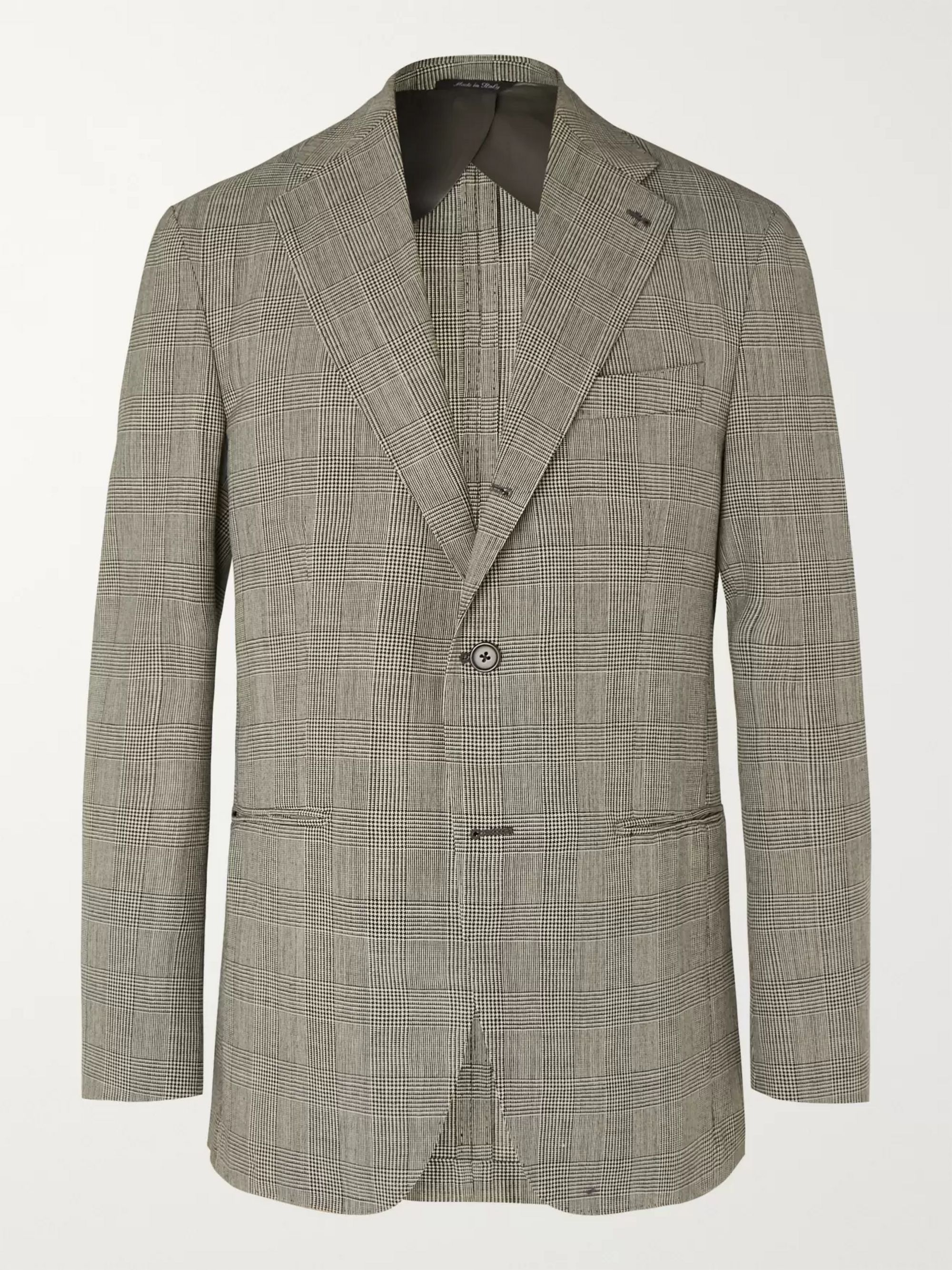 Berg & Berg Black Dan II Prince of Wales Checked Wool Blazer