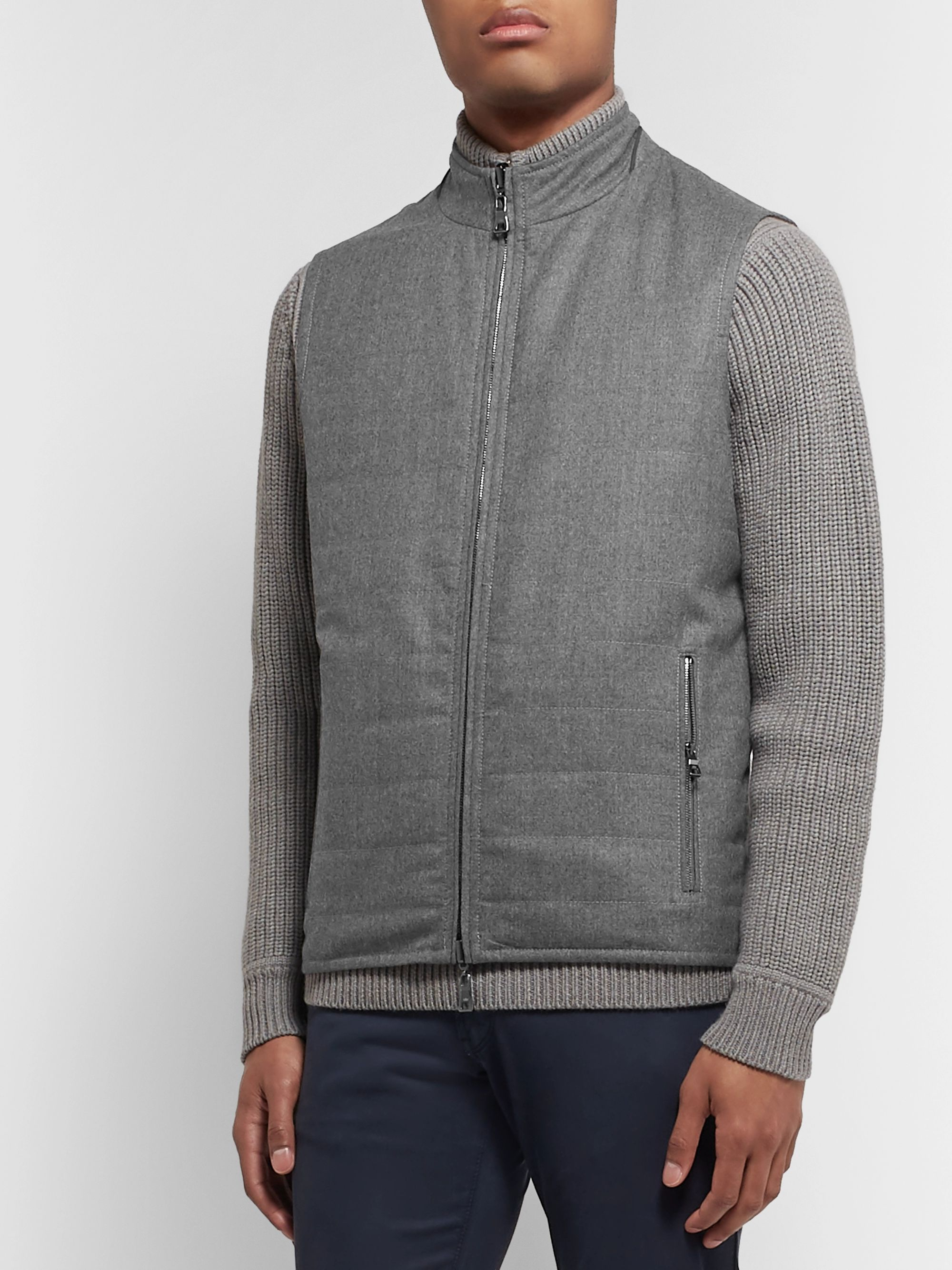 Peter Millar All-Weather Flex Reversible Quilted Shell and Wool Gilet