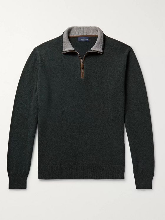 Peter Millar Cashmere-Blend Half-Zip Sweater