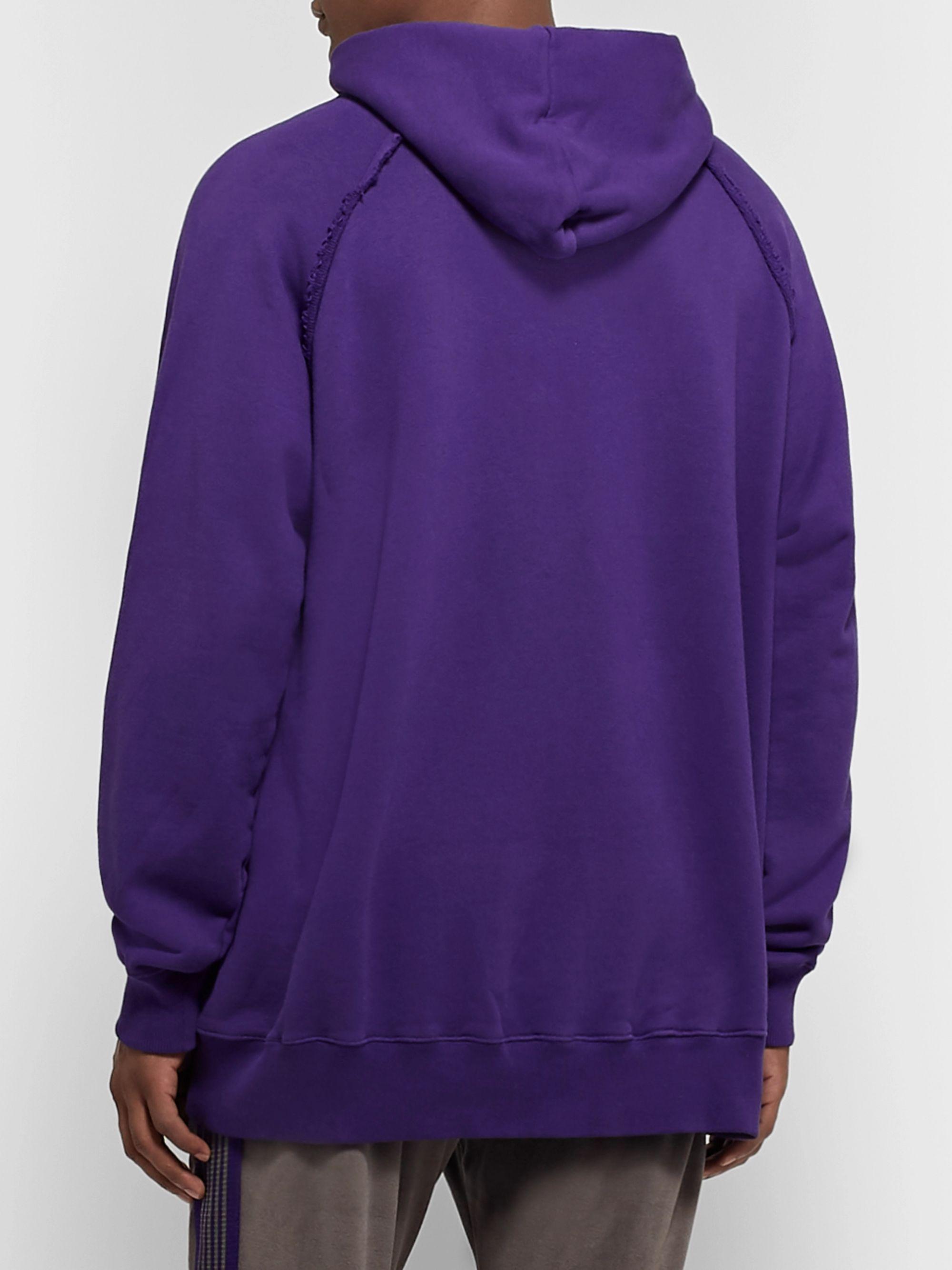 Oversized Logo Print Loopback Cotton Jersey Hoodie