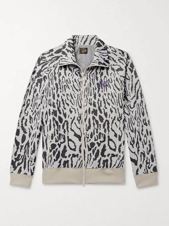 Needles Leopard-Jacquard Track Jacket