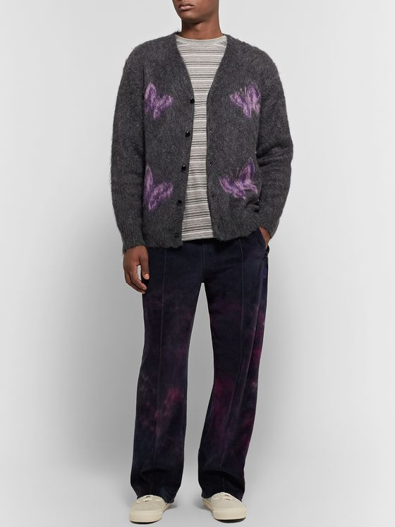 Needles Tie-Dyed Cotton-Blend Velour Track Pants