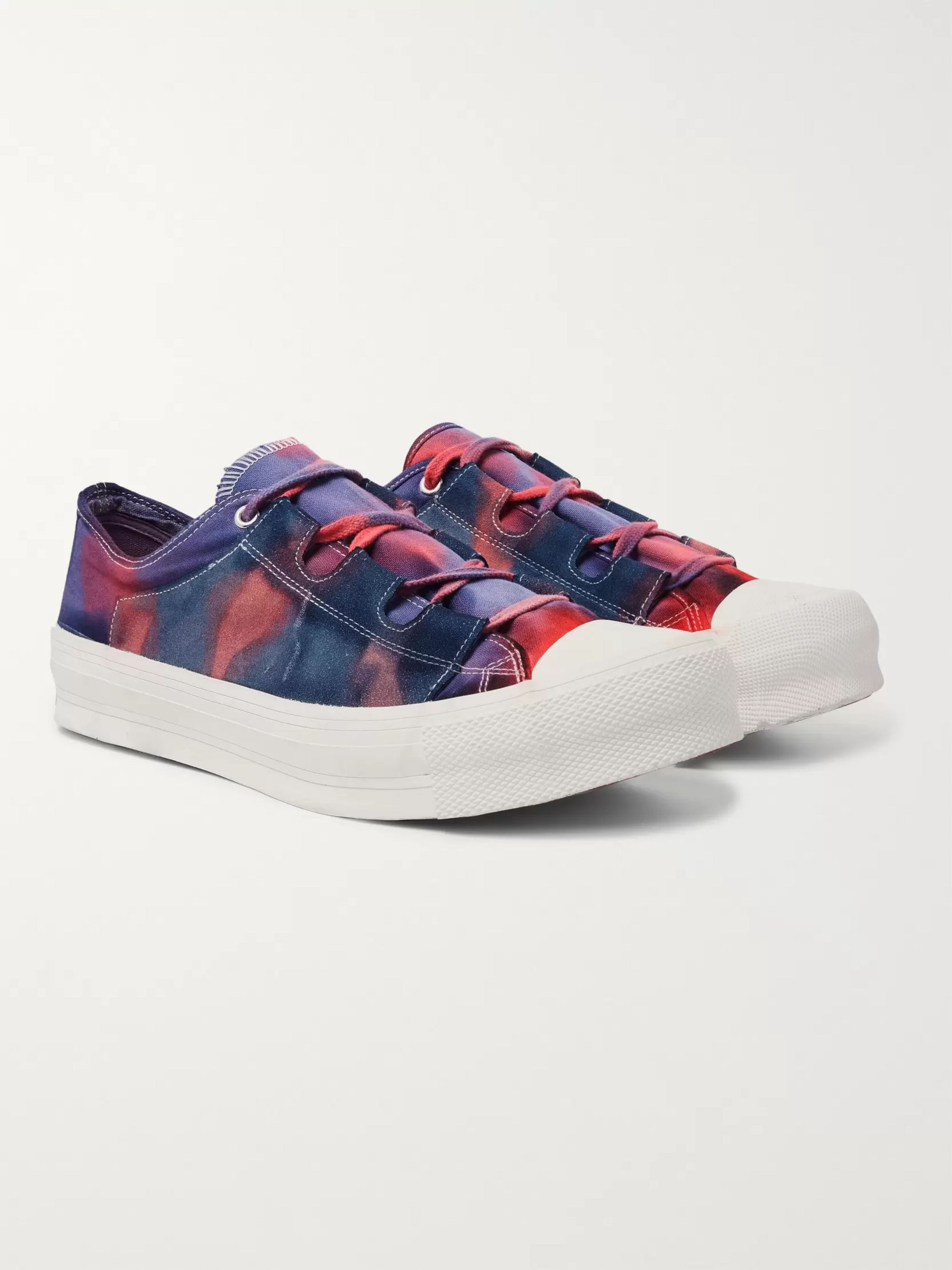 Needles Ghillie Tie-Dyed Canvas Sneakers