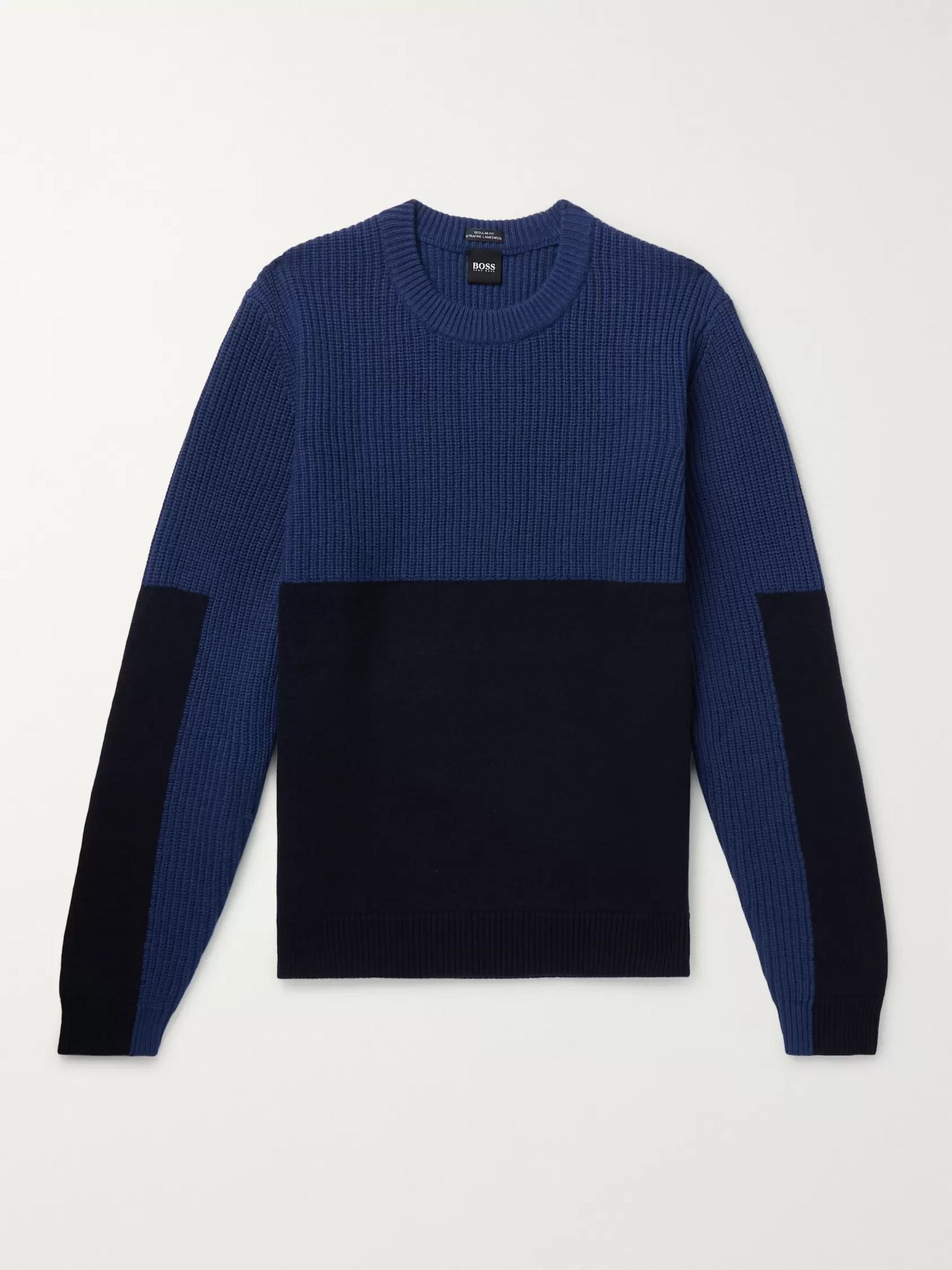 Hugo Boss Panelled Wool Sweater