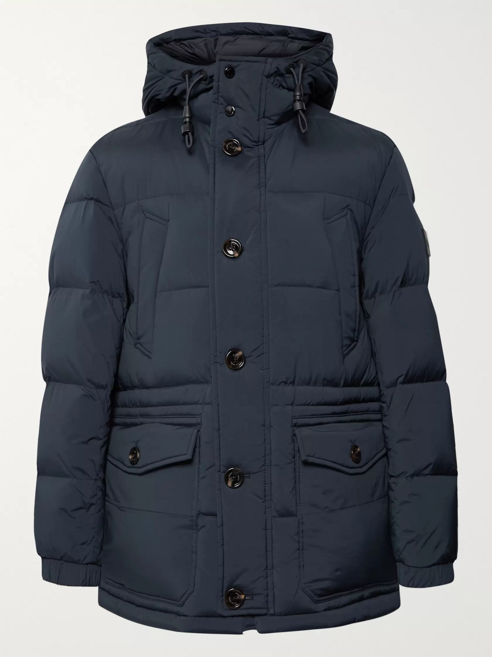 Hugo Boss Delario Quilted Shell Hooded Down Jacket