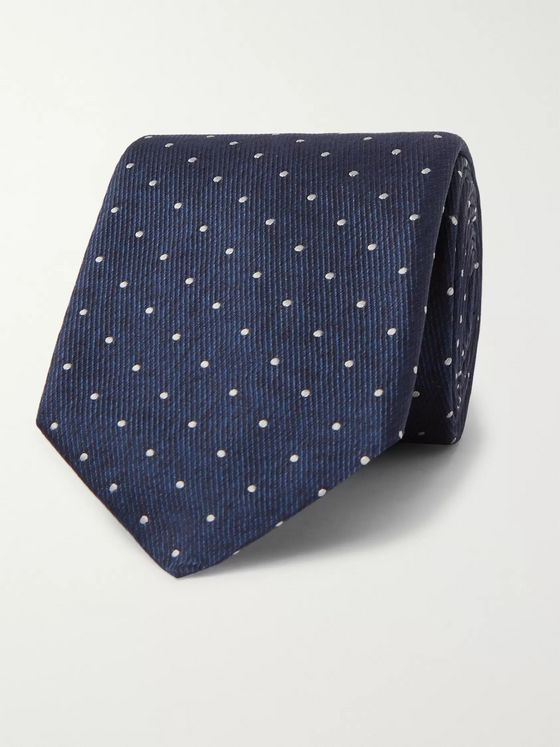 Hugo Boss 8cm Polka-Dot Silk-Twill Tie