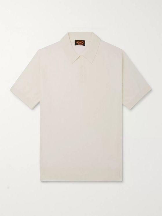 Tod's Merino Wool and Silk-Blend Polo Shirt