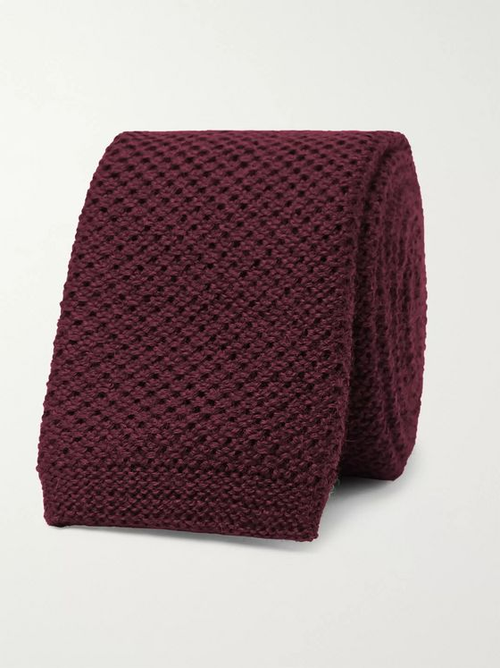 Hugo Boss 6cm Knitted Wool Tie