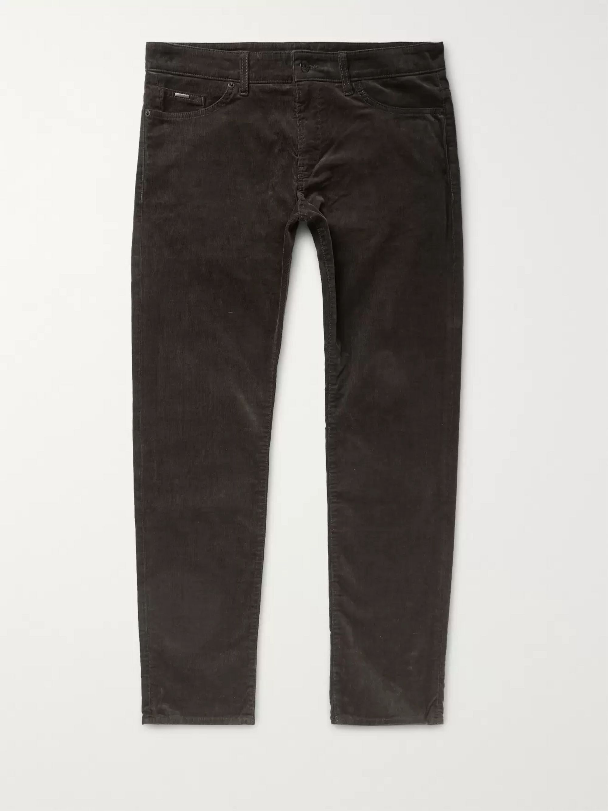 Hugo Boss Delaware Stretch-Cotton Corduroy Trousers