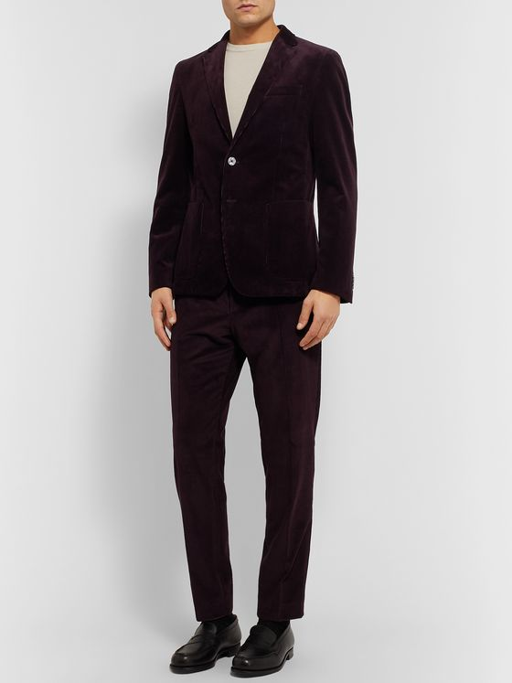 Hugo Boss Grape Slim-Fit Cotton-Corduroy Suit Jacket