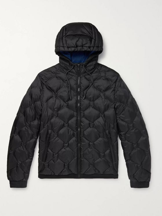 Hugo Boss Quilted Ripstop-Shell Hooded Jacket