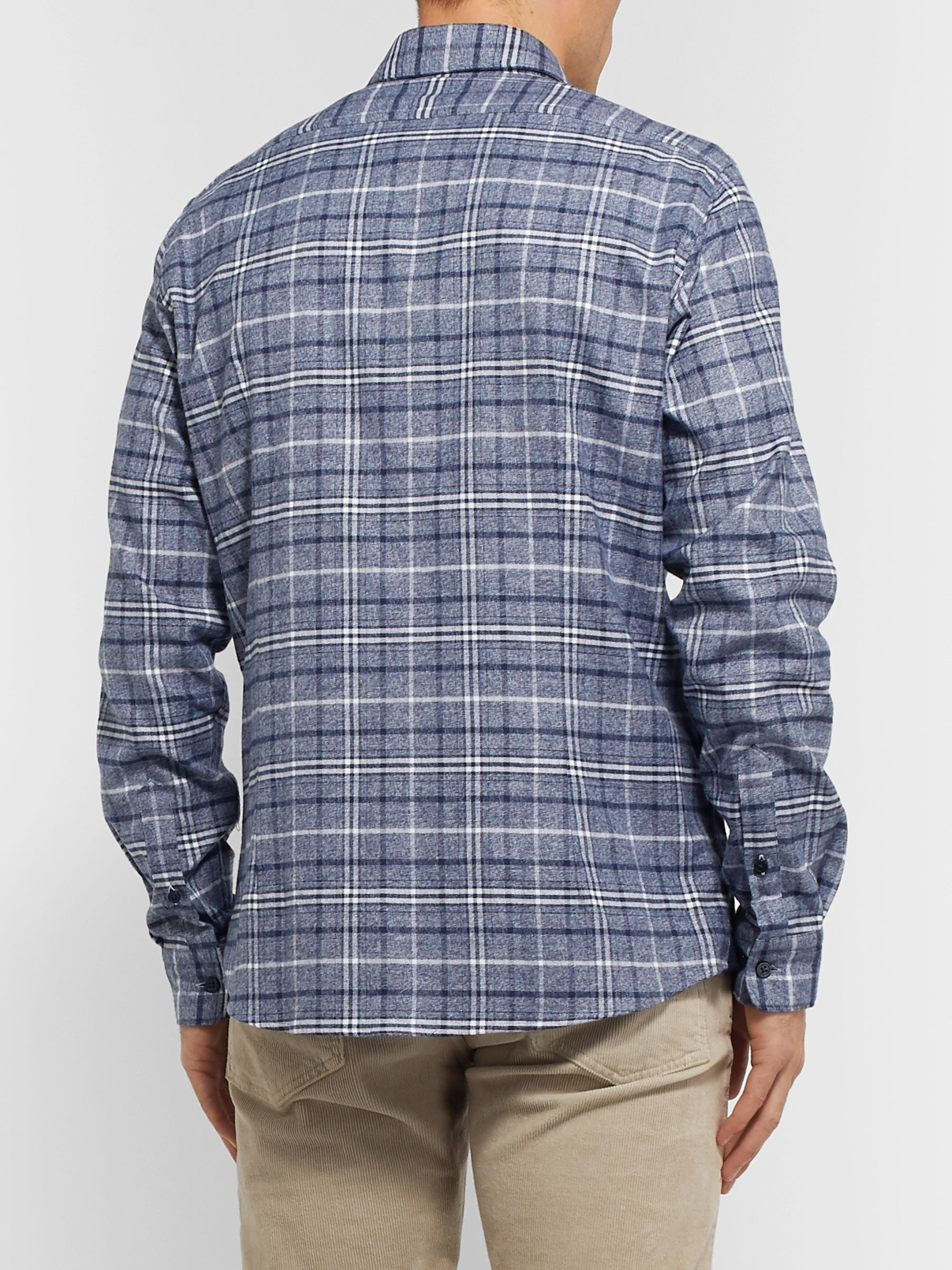 Hugo Boss Checked Cotton and Lyocell-Blend Flannel Shirt