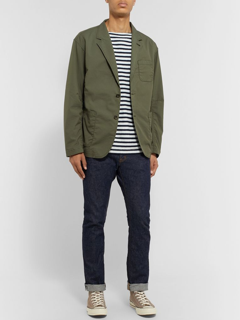 nonnative Army-Green Scientist Cotton-Blend Ripstop Blazer