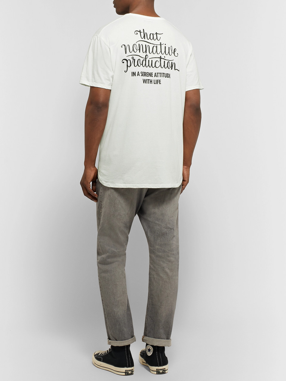 nonnative Oversized Logo-Print Cotton-Jersey T-Shirt