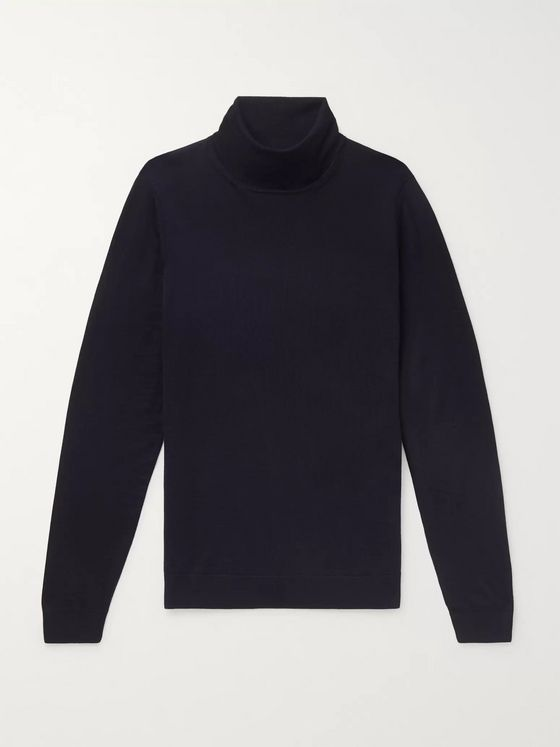 Hugo Boss Slim-Fit Virgin Wool Rollneck Sweater