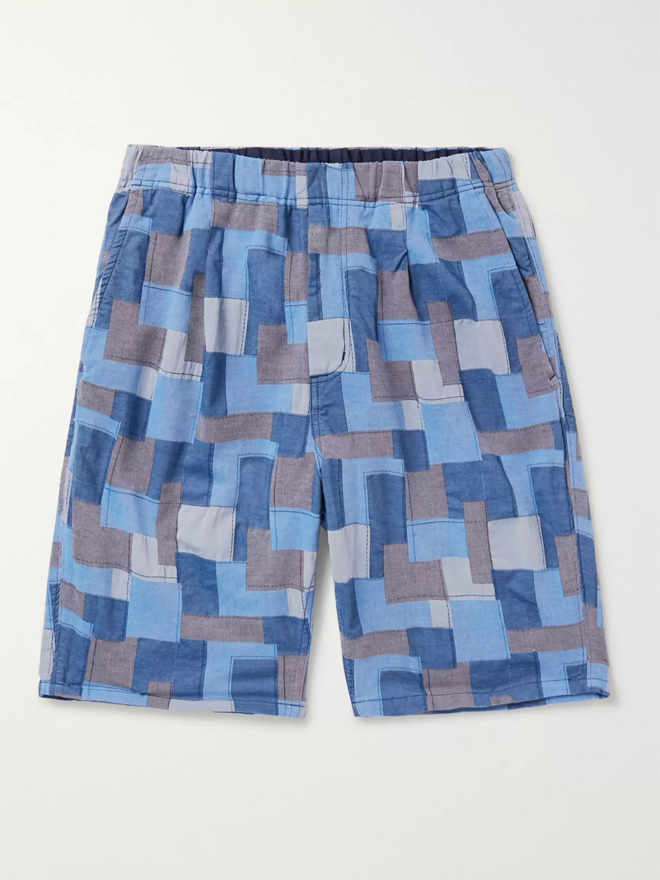 nonnative Manager Easy Patchwork Cotton Shorts