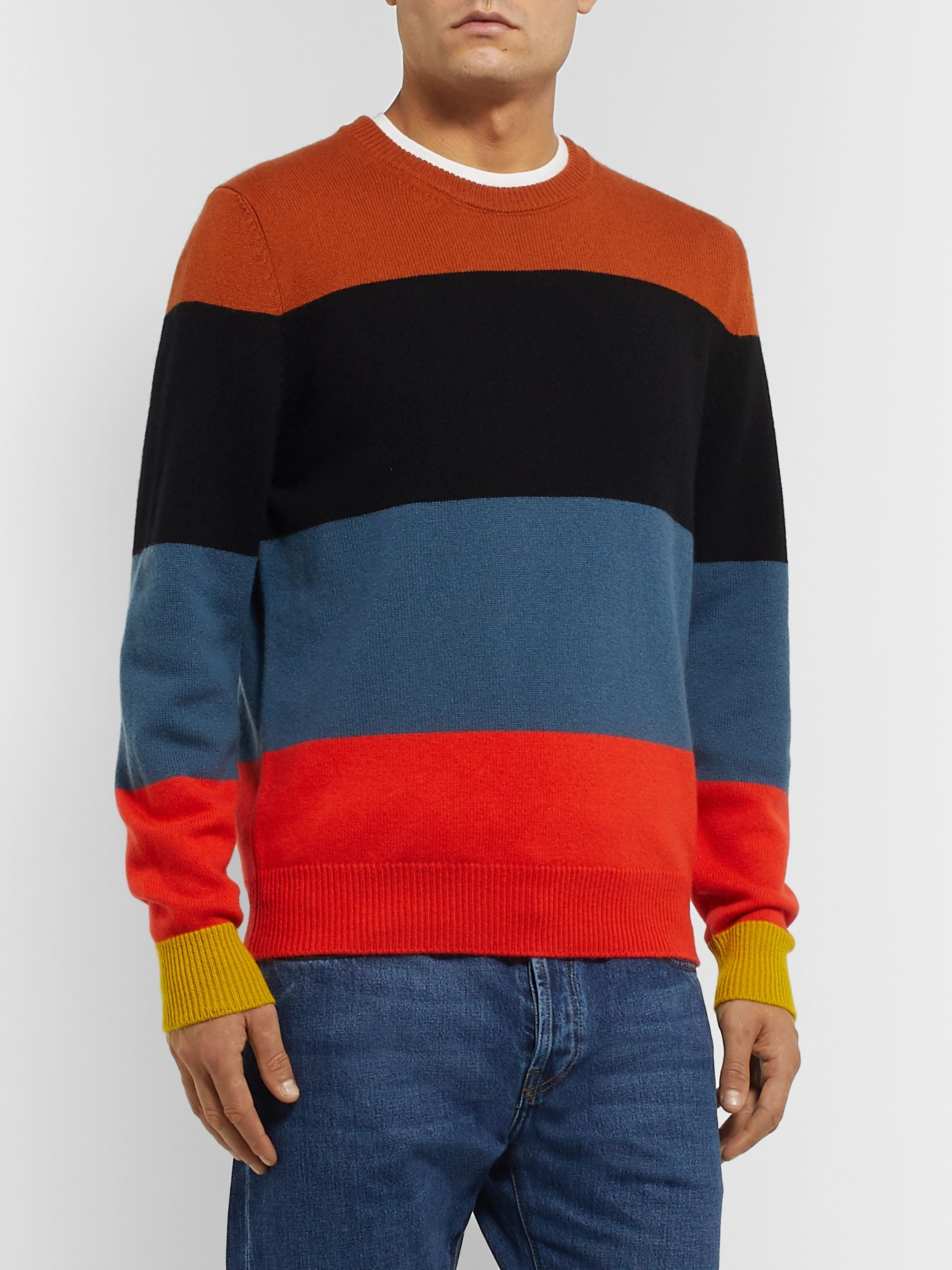 Paul Smith Slim-Fit Striped Cashmere Sweater