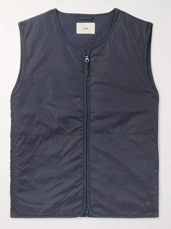 Folk Padded Crinkled-Shell Gilet