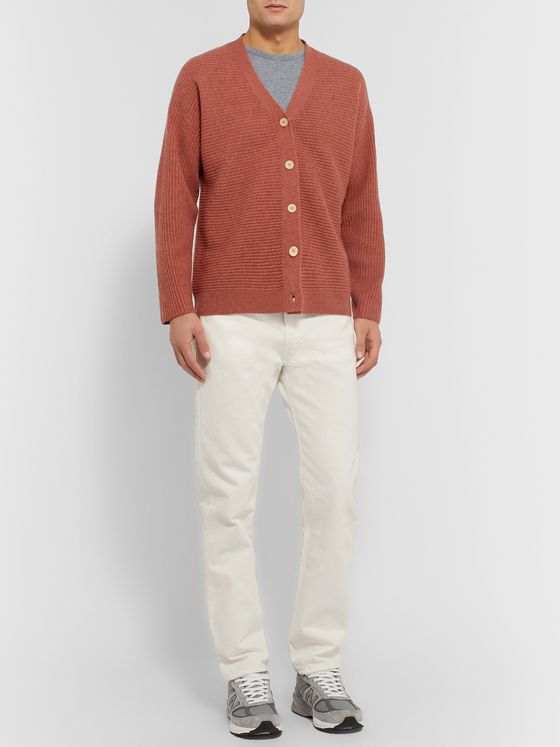 Folk Signal Ribbed Wool Cardigan