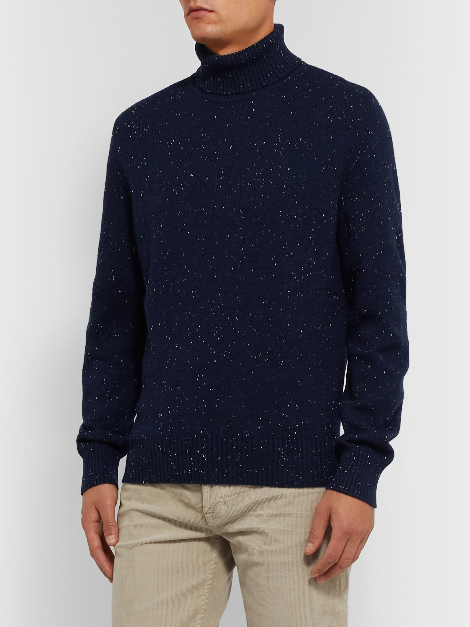 Ermenegildo Zegna Wool, Silk and Cashmere-Blend Rollneck Sweater