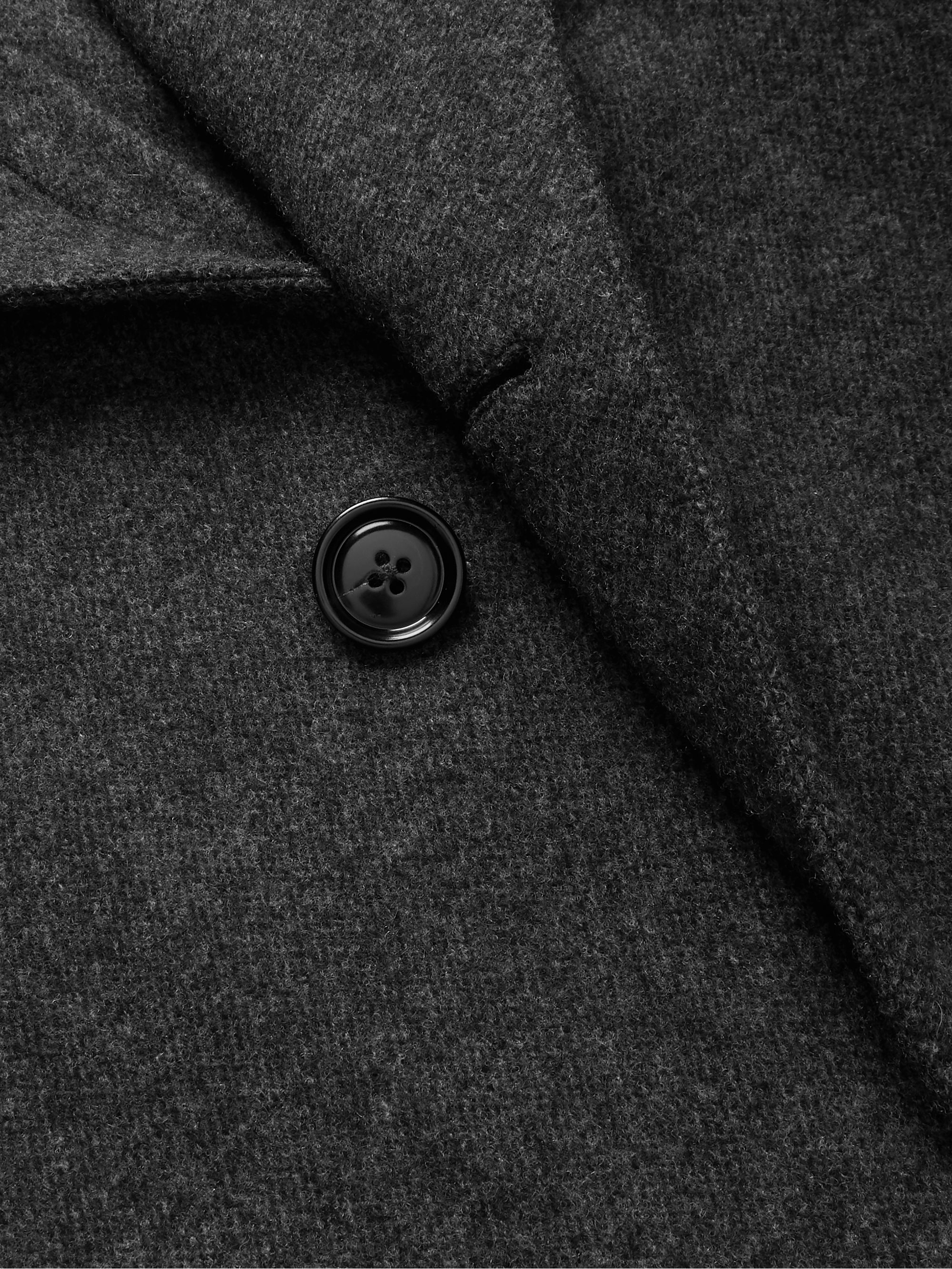 Ermenegildo Zegna Mélange Wool and Cashmere-Blend Coat