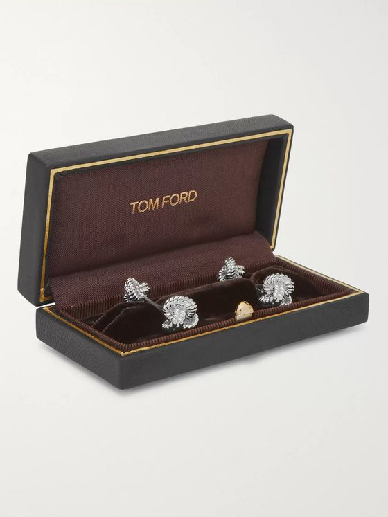 TOM FORD 18-Karat White Gold Knot Cufflinks