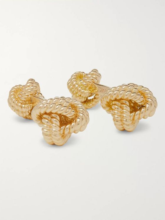 TOM FORD 18-Karat Gold Knot Cufflinks