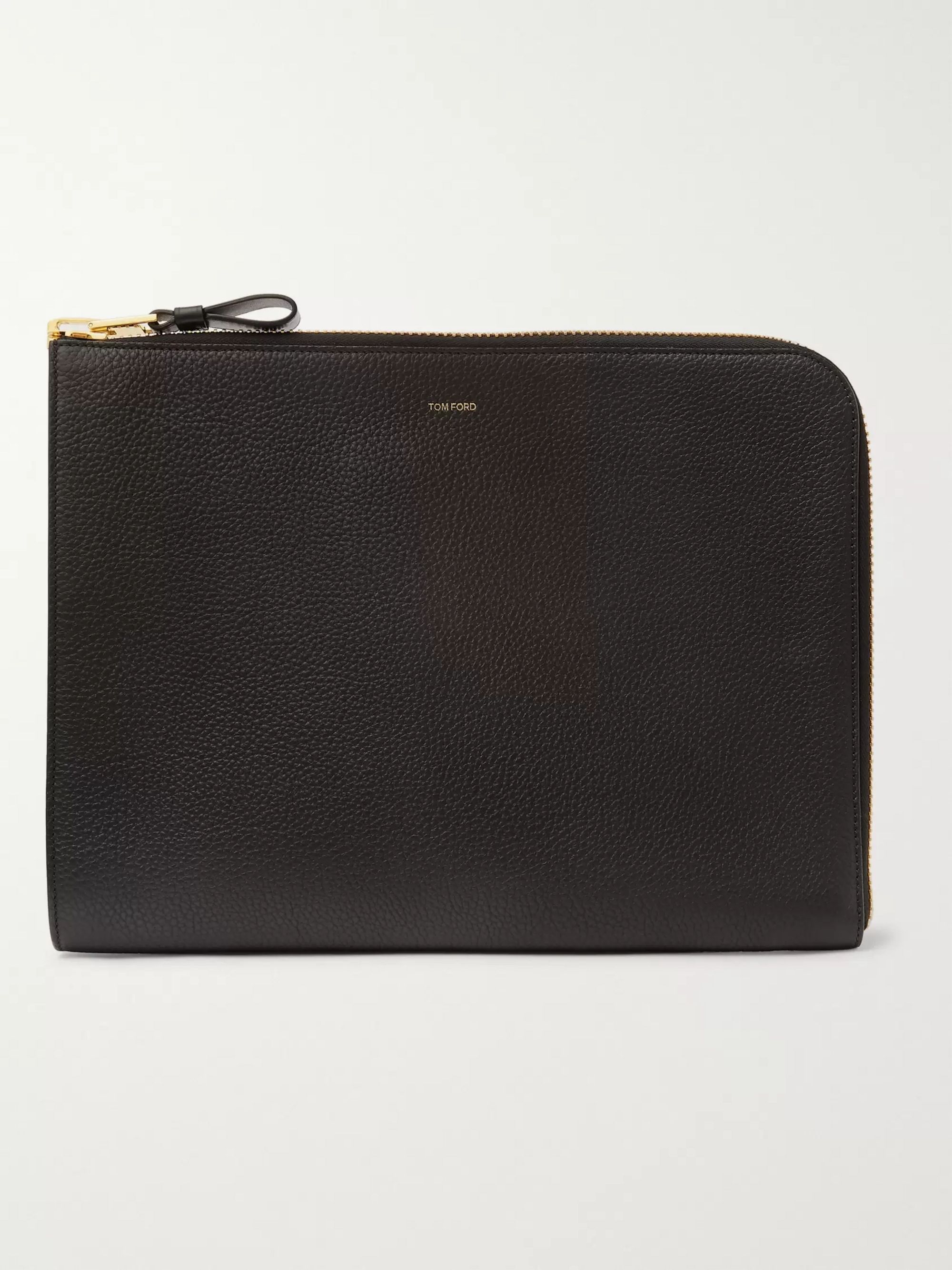 TOM FORD Full-Grain Leather Zip-Around Pouch