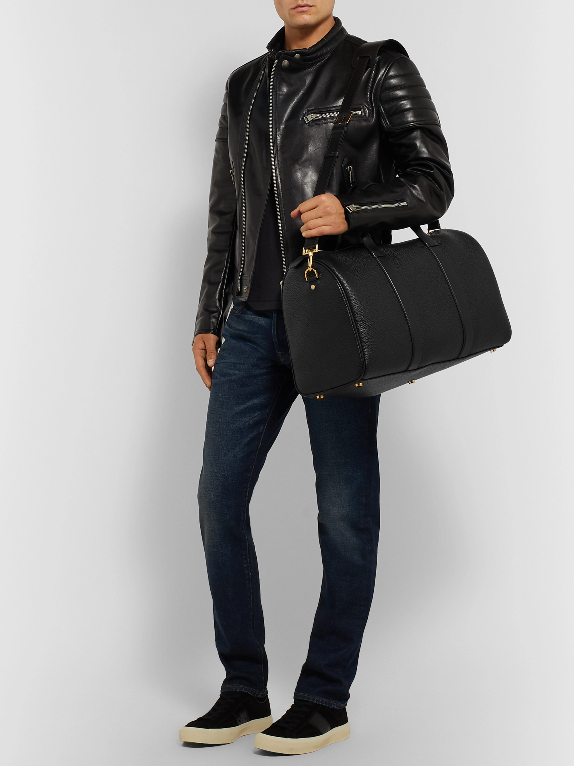 TOM FORD Full-Grain Leather Holdall