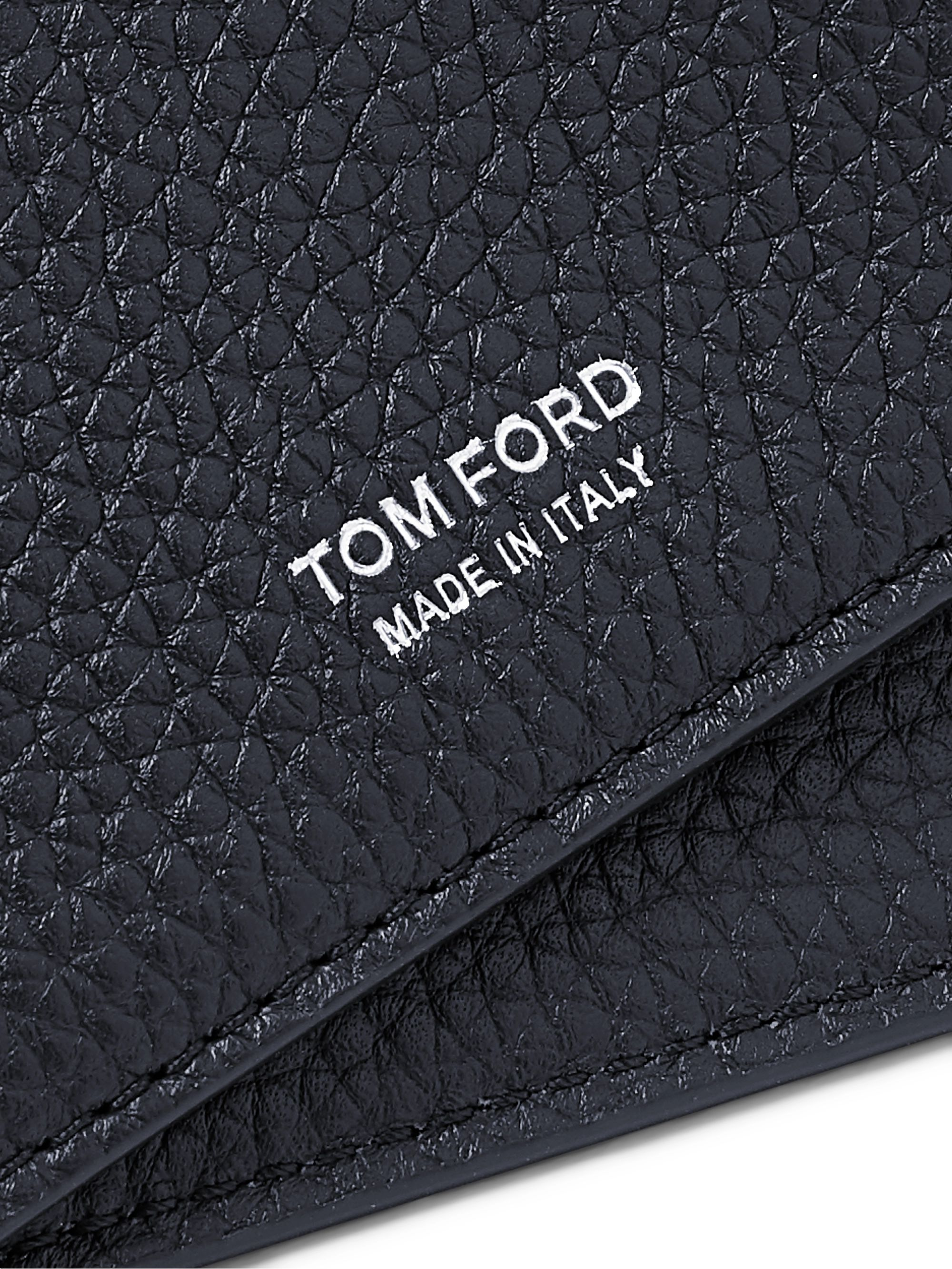 TOM FORD Full-Grain Leather Bifold Cardholder