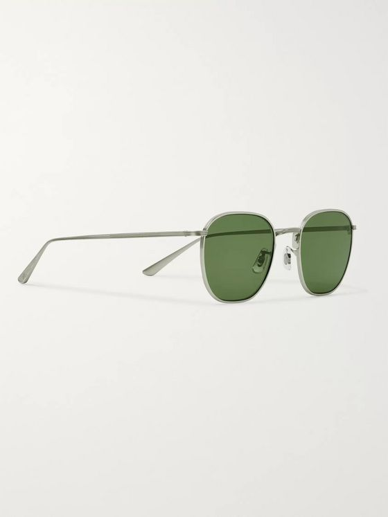 The Row + Oliver Peoples Board Meeting 2 Square-Frame Gold-Tone Titanium Photochromic Sunglasses
