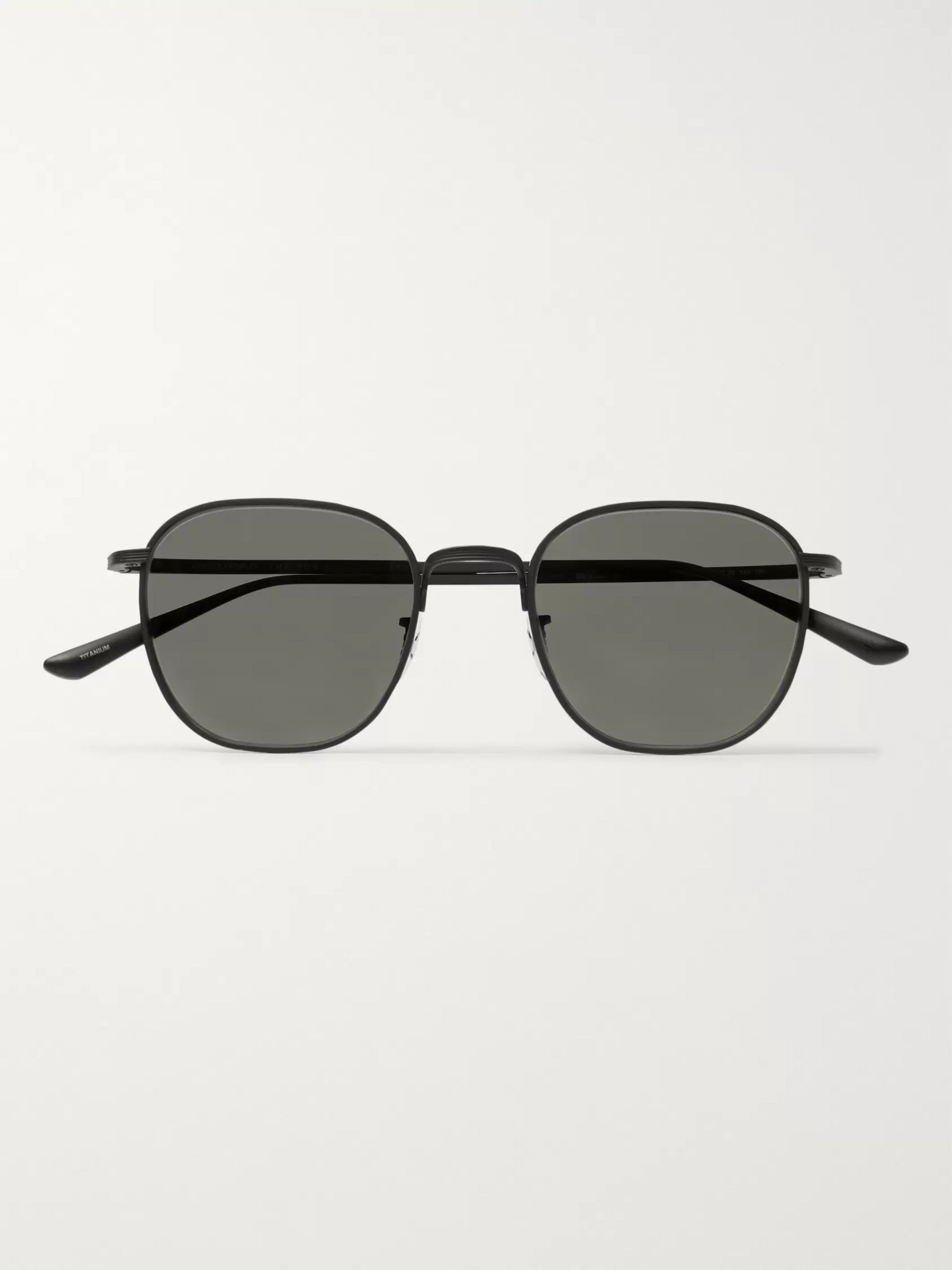 The Row + Oliver Peoples Board Meeting 2 Square-Frame Silver-Tone Titanium Sunglasses