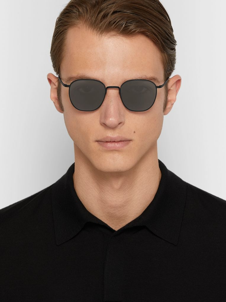 The Row + Oliver Peoples Board Meeting 2 Square-Frame Titanium Mirrored Sunglasses