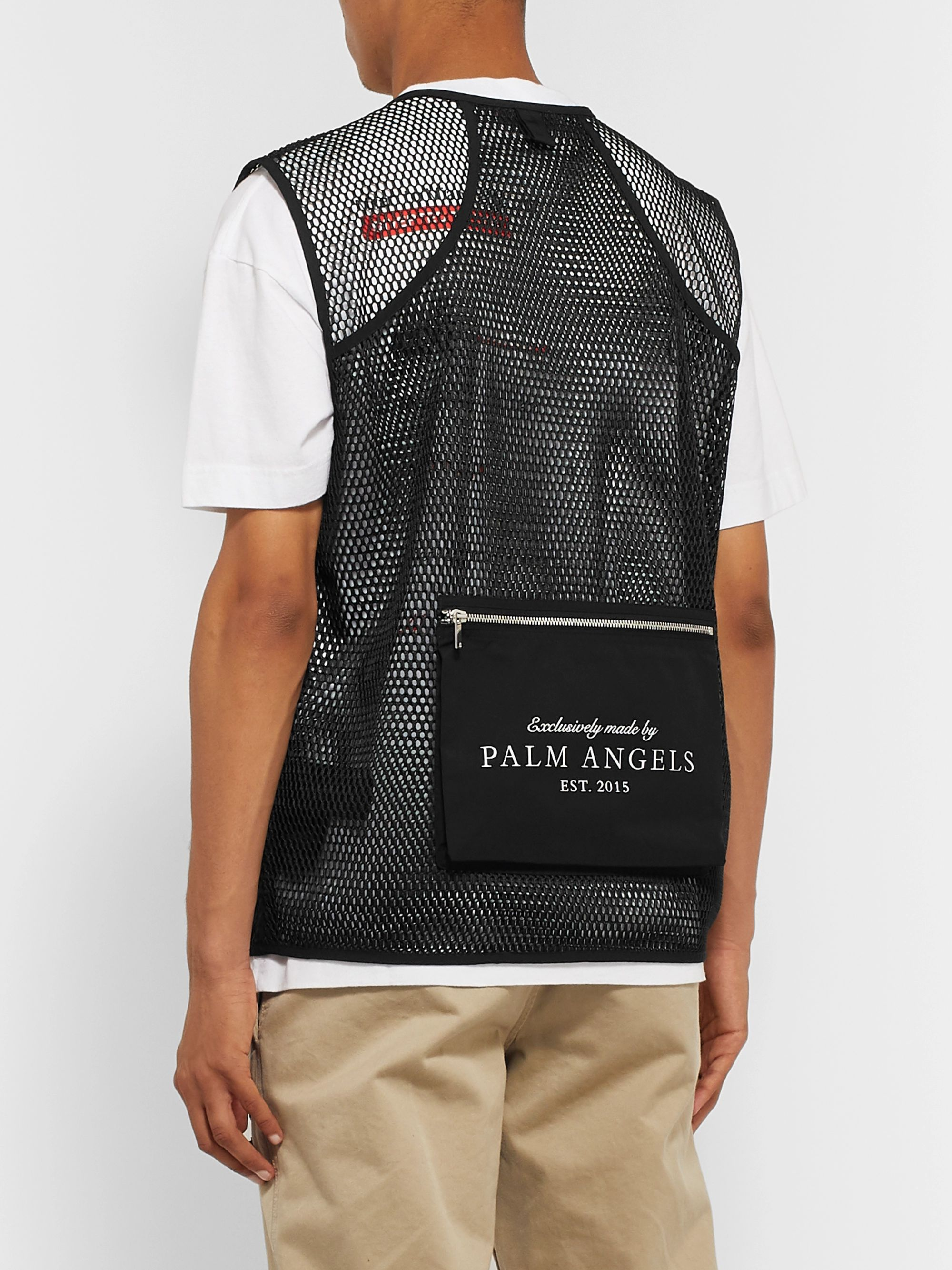 Palm Angels Shell and Mesh Gilet