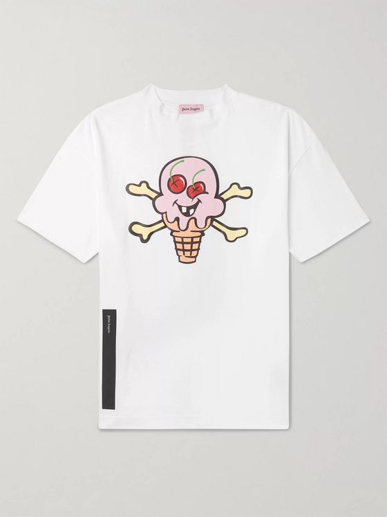 PALM ANGELS + ICECREAM Printed Cotton-Jersey T-Shirt