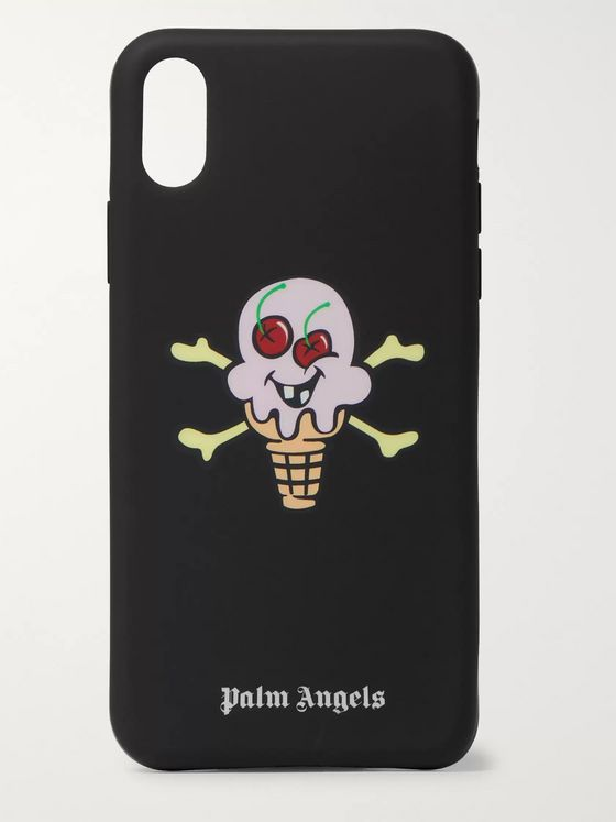 PALM ANGELS + ICECREAM Logo-Print iPhone X Case
