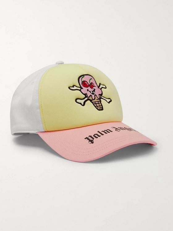 PALM ANGELS + ICECREAM Logo-Embroidered Cotton-Blend Baseball Cap