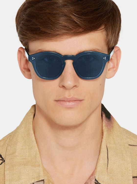 Oliver Peoples Boudreau LA D-Frame Acetate Sunglasses