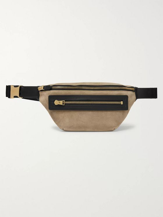 TOM FORD Suede and Leather Belt Bag